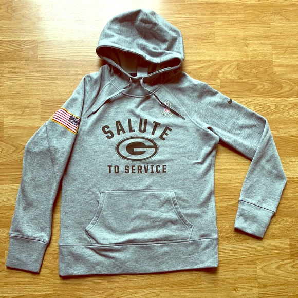 hot sales 410e9 b62ff Green Bay Packers Salute to Service Hoodie